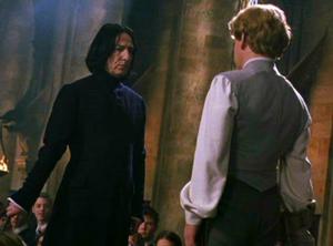 Snape y Lockhart antes de su duelo