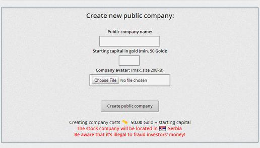 Create new company SC