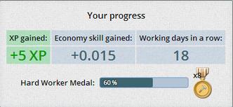 Working progress