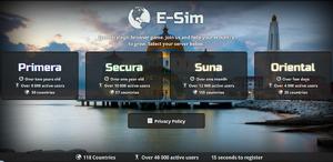 E-sim page