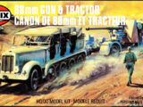 Airfix 1/76 02303 88mm Gun and Tractor
