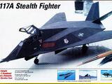 Testors/Italeri 1/72 654 F-117A Stealth Fighter