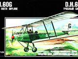Korpak 1/72 D.H.60G Gipsy Moth Biplane
