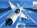 Mini Hobby Models 1/144 80410 MiG-21PF Fishbed