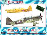 Octopus 1/72 72039 Fairey Firefly Mk.I