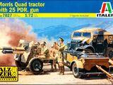 Italeri 1/72 7027 Morris Quad Tractor with 25 pdr. Gun