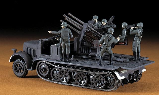 Hasegawa 1/72 MT14 8 ton Half Track Quadruple 20mm AA ...