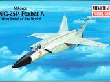 Minicraft 1/144 14428 Mikoyan MiG-25P Foxbat A