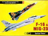 Hobbycraft 1/144 HC1121 F-16 & MiG-23 Tactical Twins