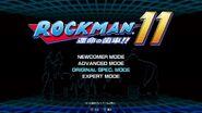 Rockman11 tittle screen
