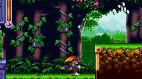 Mega Man & Bass - Burner Man Stage Forest Base (Bass)