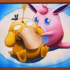 Psyduck queda gravemente herido, lo cual deja muy angustiada a la pobre Wigglytuff.