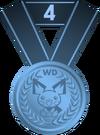 Medalla cuarto puesto PD