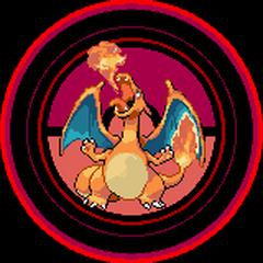 Charizard en los créditos de Pokémon Rojo Fuego y Verde Hoja.