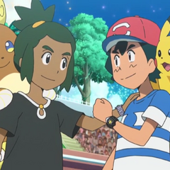 Ash y Hau/Tilo demuestran que incluso en los combates son buenos amigos.