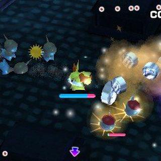 Luchando contra otros Pokémon en una de las fases.