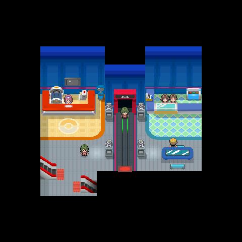 Centro Pokémon Platino.