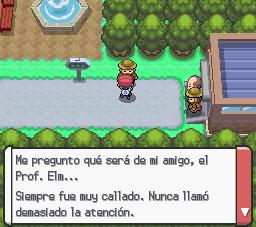 Mención de profesor Elm en Pokemon Platino