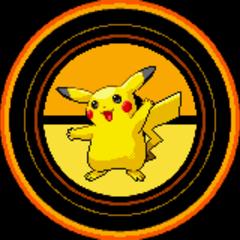 Pikachu en los créditos de Pokémon Rojo Fuego y Verde Hoja.