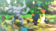 EP839 Machamp vs Hariyama