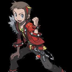 Apariencia de Bruno al participar en los Concursos Pokémon en <a href=