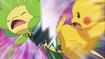 EP685 Leavanny vs. Pikachu
