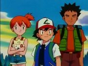 EP118 Misty, Ash y Brock