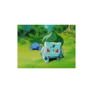 Bulbasaur defendiendo a un <a href=