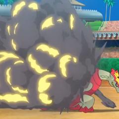 Explosión de la Coraza trampa de Turtonator.