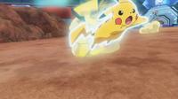 EP931 Pikachu usando ataque rápido