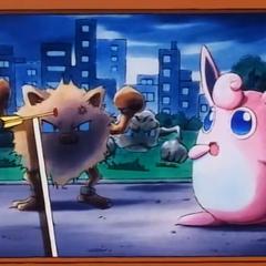 Pero durante el conflicto una flecha desviada iba a golpear a Wigglytuff.