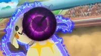 EP1072 Mimikyu usando Bola sombra contra Pikachu