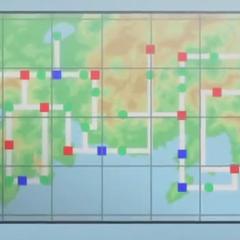 Mapa de Johto (a la izquierda) junto con <a href=