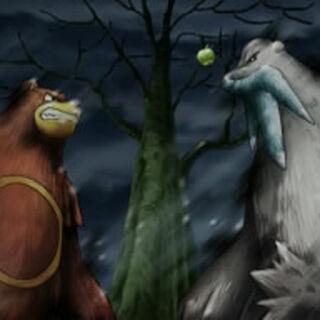 Ursaring y Beartic apunto de pelear