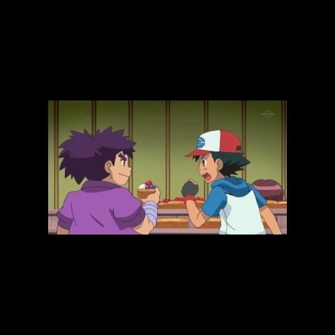 Ash discutiendo con Yikuya.