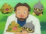 EP274 Profesor Abedul rodeado de Pokémon (2)