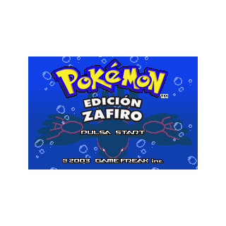 Pantalla de inicio de Pokémon Zafiro.