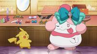 EP908 Pikachu y Slurpuff