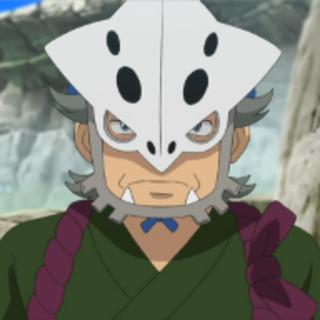 Heidayu con su máscara de <a href=