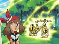 EP277 Pikachu destruyendo la bicicleta
