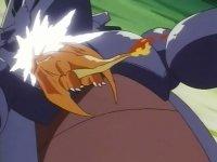 EP110 Charizard de ash usando derribo