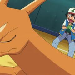 Charizard desobedeciendo a Ash.