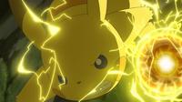 EP952 Pikachu usando bola voltio