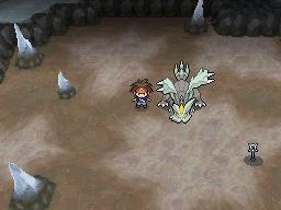 Pokemon N2B2 al lado de Kyurem