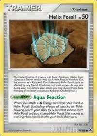 Fósil Hélix (Majestic Dawn TCG)