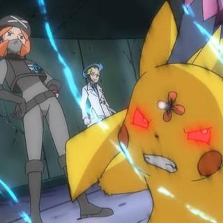 Aldith controlando a Pikachu.