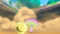 EP1072 Togedemaru usando Electropunzada contra un Shiinotic