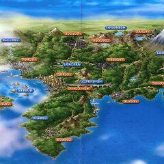 Johto en una publicación oficial con localizaciones en el anime.
