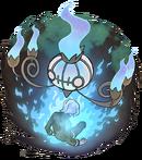 Artwork de Chandelure quemando un alma