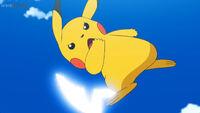 EP1071 Pikachu usando Cola férrea